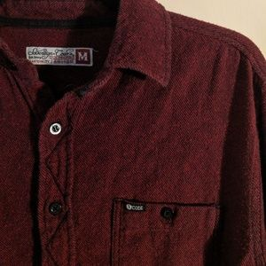 Other - Black and red pinstripe flannel button down